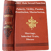 1882 The Transmission of Life Book Male Sexual Function Book Virility Marrying Cousins Prostitution Abortion Inherited Traits Masturbation Engagements Marriage Passion Heredity Disease
