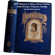 Antique Etiquette Book Decorum Beauty Fashion Wedding Home Manners Culture Dress Toilet Cosmetics Deportment Quack Medicine - Red Tag Sale Item