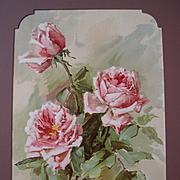 Pink La France Roses Print Teana Mc Lennan Hinman Listed Chromolithograph Antique Victorian