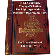 Wedlock Marriage Book The Right Relations of the Sexes Fowler Who May and May Not Marry Near Fine Condition