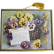 Mothers Day Pansies Print Pansy Flower Floral
