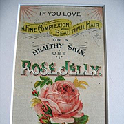 c1880 Rose Jelly Fashion Booklet Chromolithograph Print Adirondack Frame
