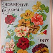 Seed Catalog Print c1907 Nasturtiums Pansy Sweet Peas McKee Rule Co