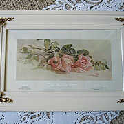 Antique Pink Roses Print Rhoda Holmes Nicholls Half Yard Long Rose