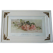 Antique Pink Roses Print Rhoda Holmes Nicholls Half Yard Long Rose
