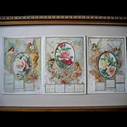 Antique Fairbanks Soap Company Fairy Lady Calendar Print s Yard Long Roses Chromolithograph
