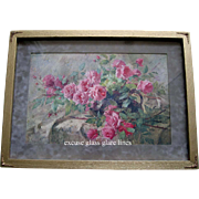 La France Pink Roses Print Antique Mortelmanns