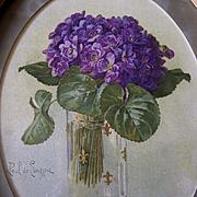 Violets Print Paul de Longpre Antique
