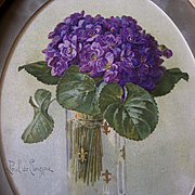 Violets Print Paul de Longpre Antique