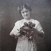 Antique Lady Roses Large Photograph