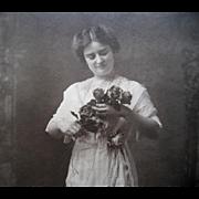 Antique Lady Roses Large Photograph