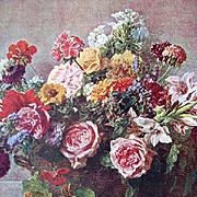 Vintage Roses Print Fantin