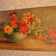Antique Nasturtiums Print Victorian Magill Half Yard Long