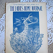 Antique Ladies Home Journal Magazine Fairy Art Nouveau Fashion Print Cottage Decor