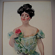 Antique Lady Print Howard Chandler Christy Rose The Christy Girl