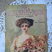 Blushing Rose Lady Roses Sheet Music Print