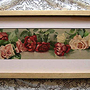 Antique Roses Yard Long Print Victorian Virginia Janus