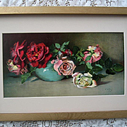 Antique Cabbage Roses Print Virginia Janus