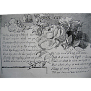 c1890 The Roses Song Poem Print