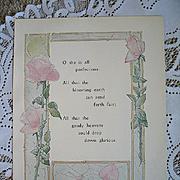 Antique Roses Poem Print