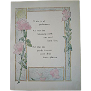 Antique Roses Poem Print