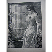 c1897 Lady Print Antique
