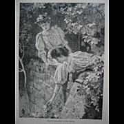 Antique Ladies Print Victorian