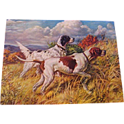 Dog Print Calendar Top Hunting Dog