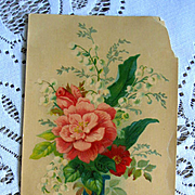 Antique Birthday Wish Victorian Trade Card Chromolithograph