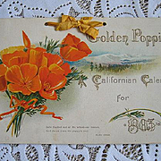 Antique Poppy Calendar Print s Mt Shasta Alcatraz Golden Gate