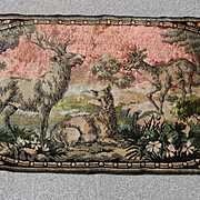 Deer Tapestry or Rug Very Old
