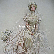 Victorian Bride Print Harrison Fisher