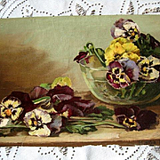 Antique Pansies Print
