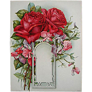 Antique Rose Print Chromolithograph