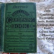 c1890s Beetons Shilling Gardening Book Botany Horticulture Garden Plant