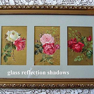 Paul de Longpre Antique Rose Print s