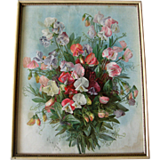 Paul de Longpre Antique Sweet Peas Print