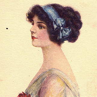 Antique Lady Postcard J Knowles Hare