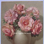 Pink Roses Vintage Print