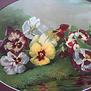 Antique Pansies Print Victor Dangon