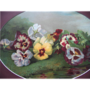 Antique Pansies Print Victor Dangon