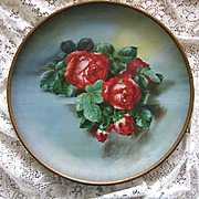 Antique Roses Charger Tin Large