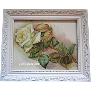Antique White Roses Print