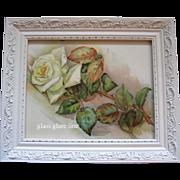 Antique White Roses Print