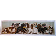 Van Vredenburgh Puppies Yard Long Print