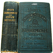 c1882 Moores Universal Assistant and Complete Mechanic Book Recipes Medicine Beekeeping Go To Book