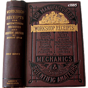 c1885 Workshop Receipts Scientific Forumulations Book Victorian