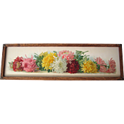 c1900 Yard Long Chrysanthemums Print Paul de Longpre Untrimmed Near Fine