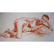 Reclining Nude Original Art