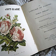 c1875 The Language of Flowers Book First Edition Tyas Floral Sentiment Prose Poetry Verse Color Prints